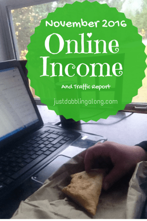 Online income report for November 2016