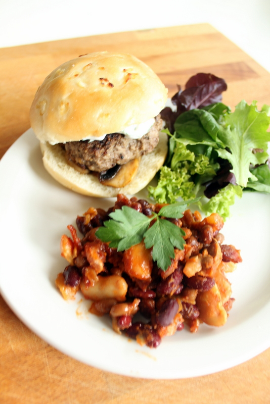 This Fathers Day make sure you try these delicious, juicy, slightly peppery burgers and our dads delicious bean bake together for one yummy meal.
