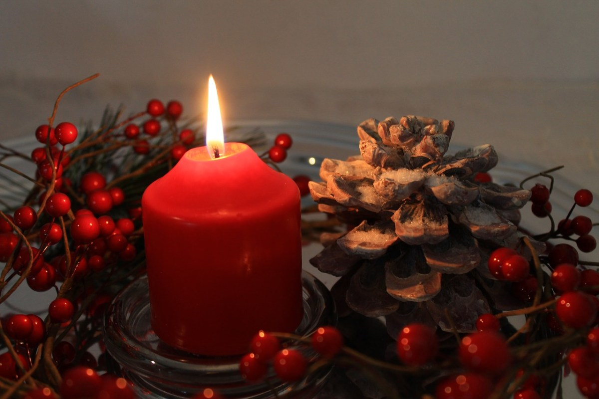 Candles are excellent for setting up a holiday celebration
