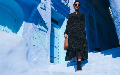 Moments in Chefchaouen with Riva fashion
