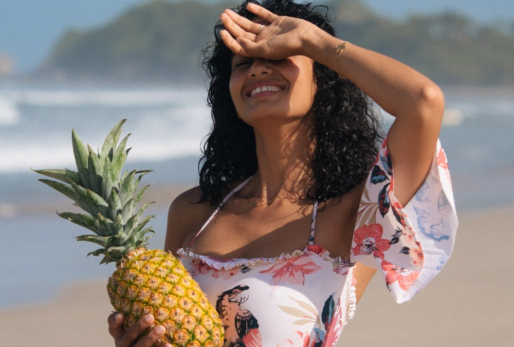Swimsuit & pineapple in Costa Rica