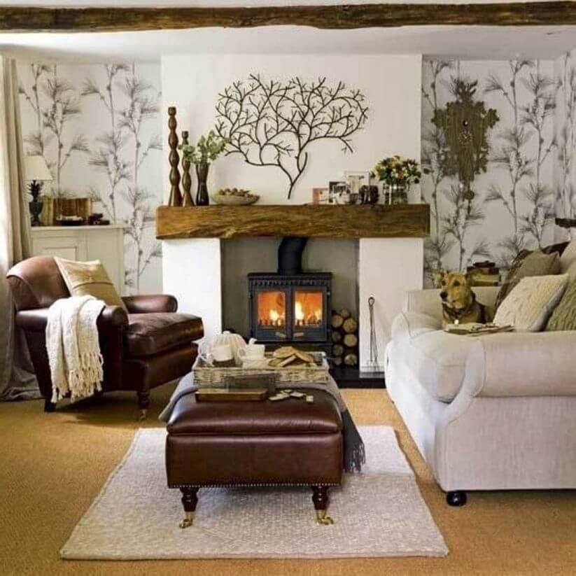 5 Warm and Cozy Small Living Room Ideas With A Fireplace ... on Small Space Small Living Room With Fireplace  id=96477