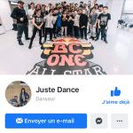 page facebook de Juste Dance