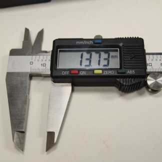 Digital caliper close up