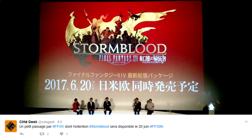 Tweet FF XIV Stormblood