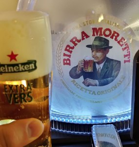 Heineken Blade Birra Moretti met Heineken Glas
