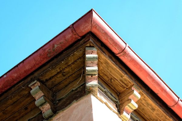Gutters of a house