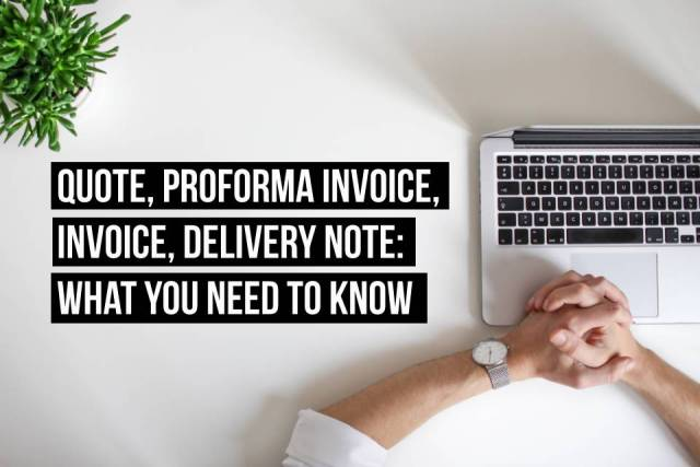 Purchase order, delivery note, receipt and invoice: what are the differences