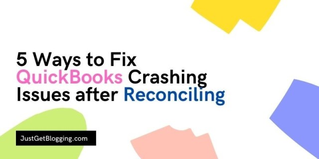 fix quickbooks crashing issues