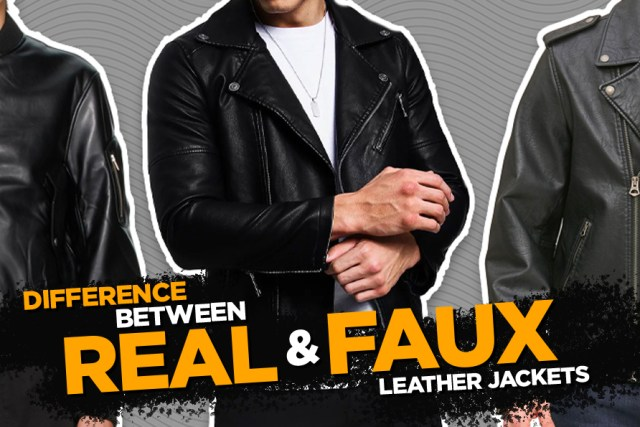 Real and Faux Leather Jackets
