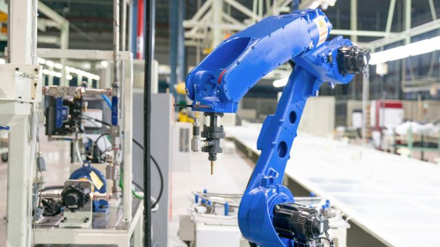 Robotic systems. Views. Stages of implementation in production