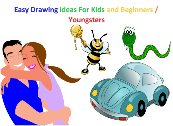 Easy Drawing Ideas For Kids and Beginners / Youngsters