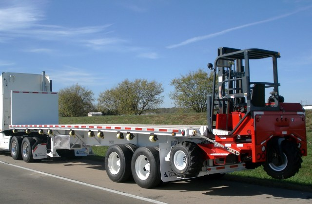Flatbed Truck With Forklift