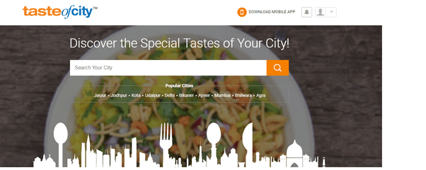 "Find the Best Online food delivery Restaurants of jaipur in this Covid Pandemic with the help of ""Taste of City"""