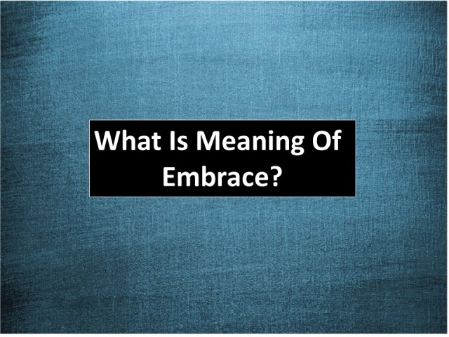 what is the meaning of embrace