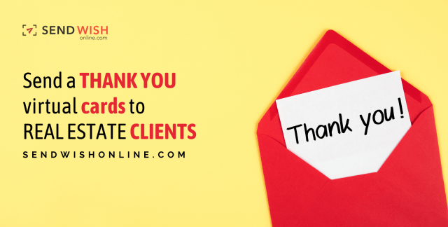 Send a thank you virtual cards to real estate client