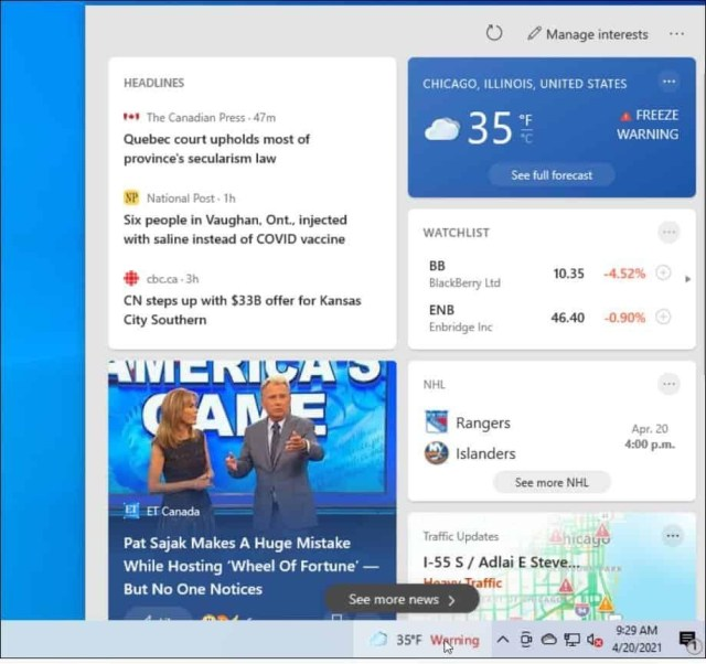 How to Disable News and Interests in Windows 10's Taskbar