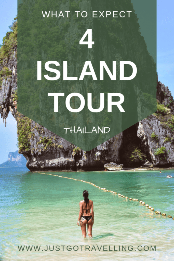 Pinterest image, 4 Island Tour just go travelling