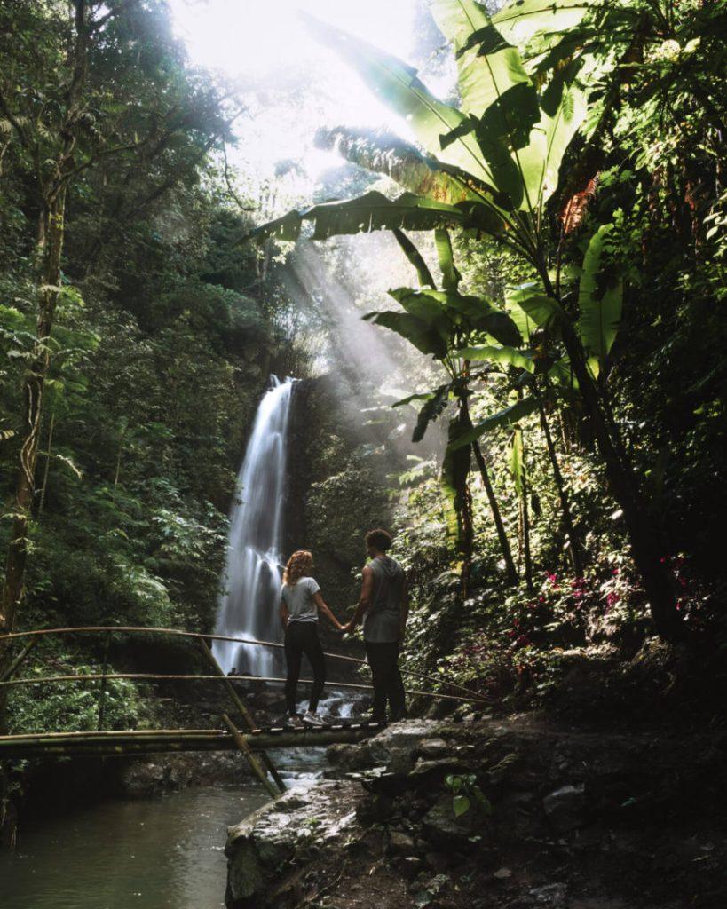 Bali Waterfalls, Lebuhan Kebo waterfall in Munduk Bali Indonesia