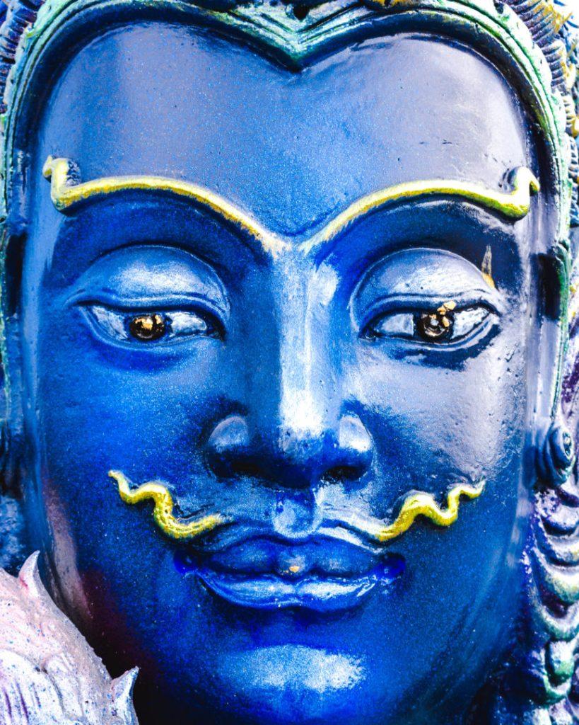Blue Temple Chiang Rai Buddha face