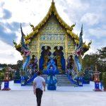 Blue-Temple-Chiang-Rai-Walking-To-Temple