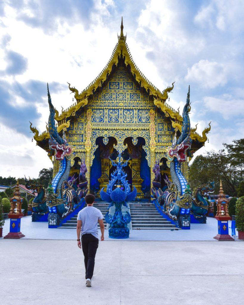 Outside the Blue Temple Chiang Rai outside