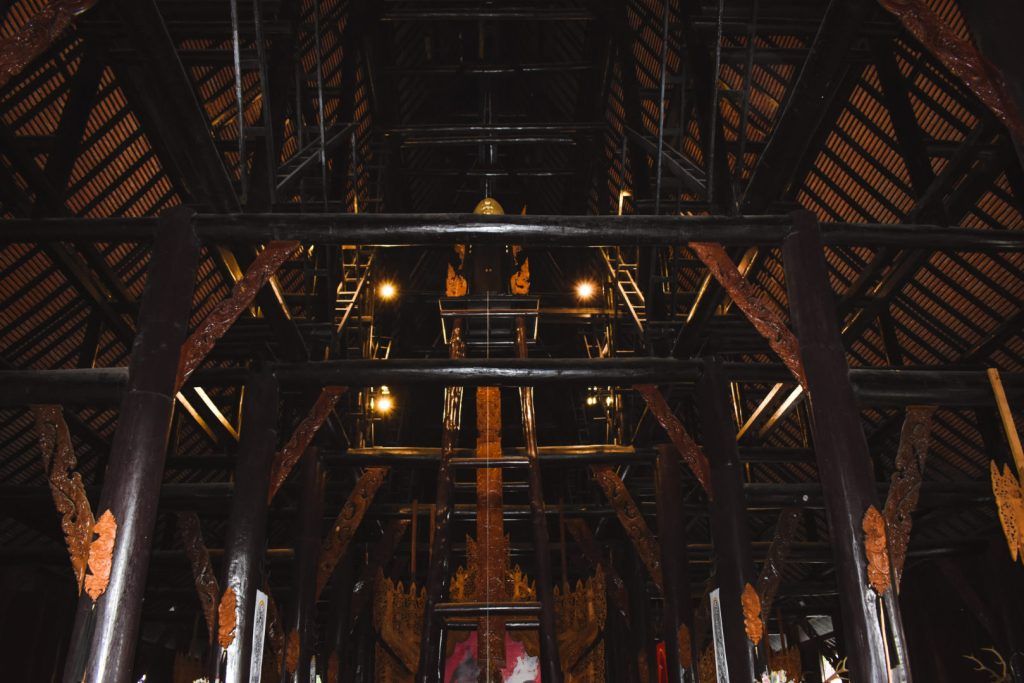 Black House Chiang Rai Ceiling, big wooden beams