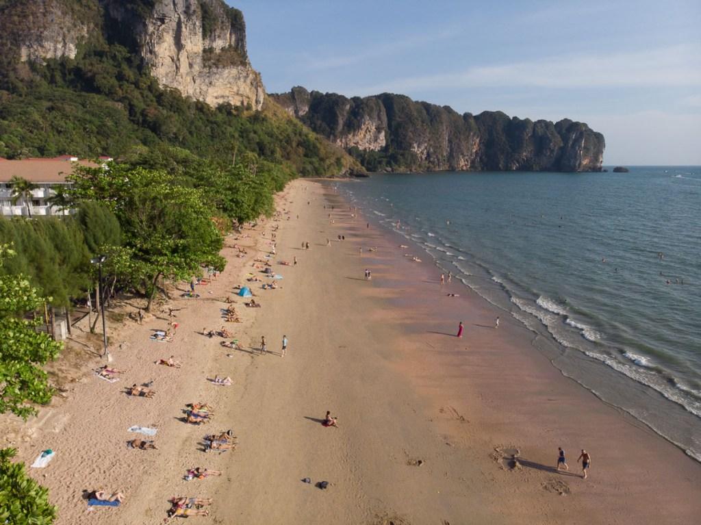 Sunbathing on Ao nang beach