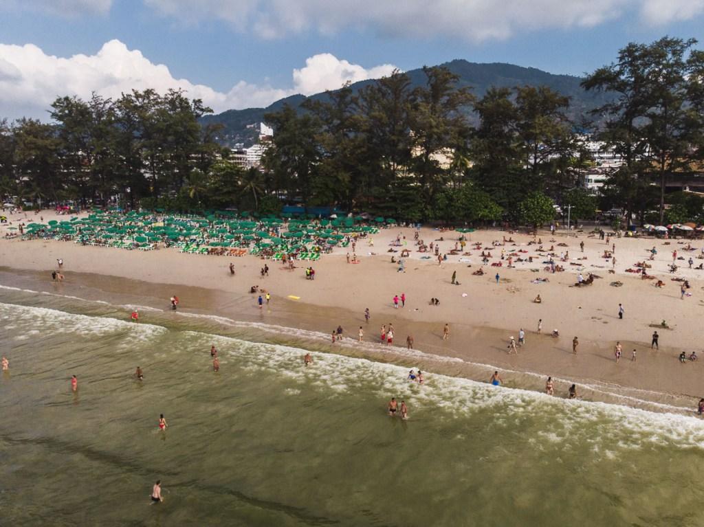 Dirty waters at Patong Beach