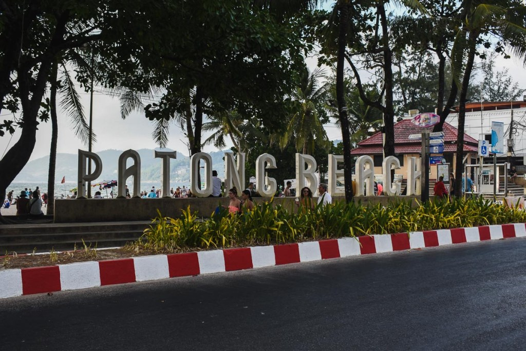 Patong Beach road sign