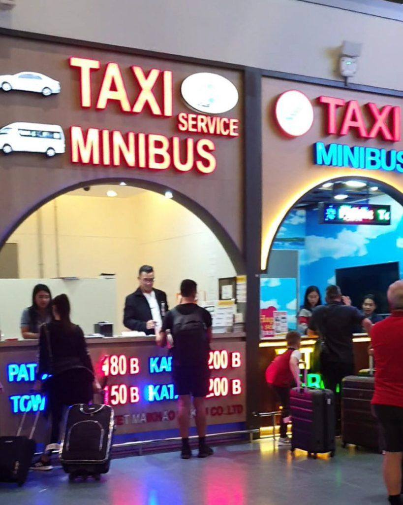 taxi service at Phuket international airport