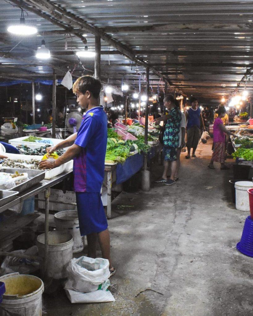 Local food market in Thailand