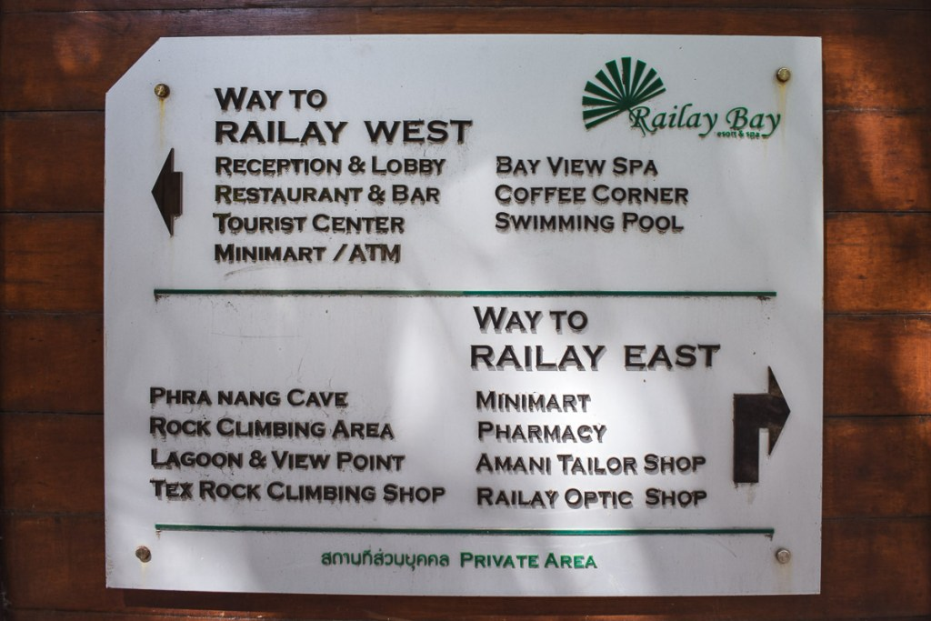 directions to railay west and railay east