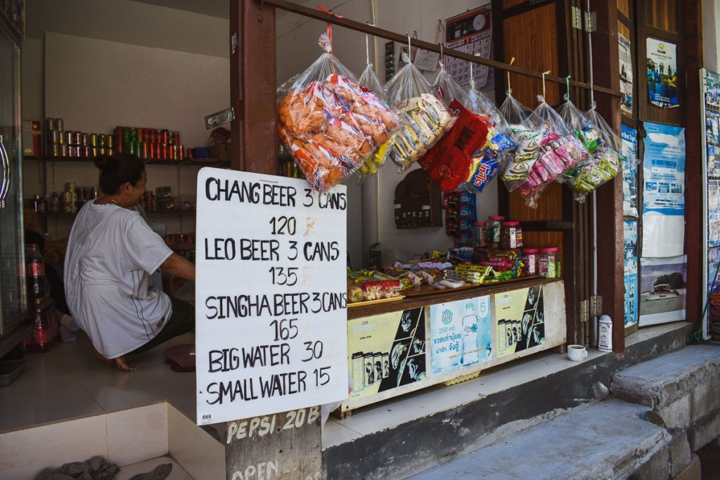 cheaper shops on eat railay thailand