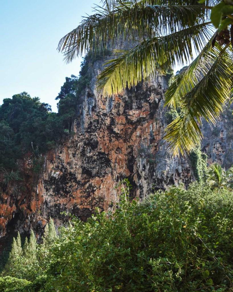 limestone cliffs and landscape