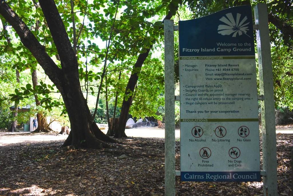 Fitzroy Island camp ground