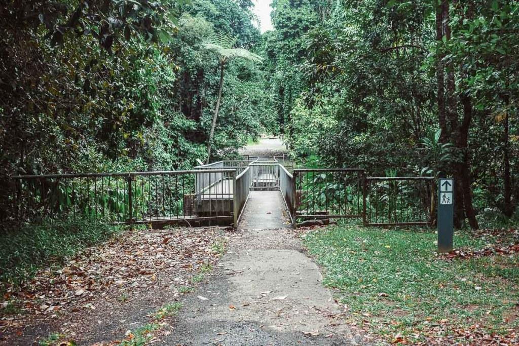 Bridge you need to cross to get to Nandroya Falls