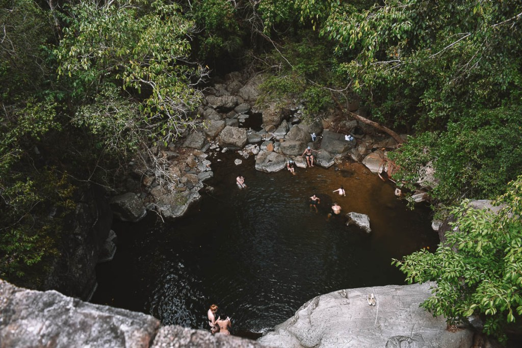 Little Crystal Creek swimming hole from above