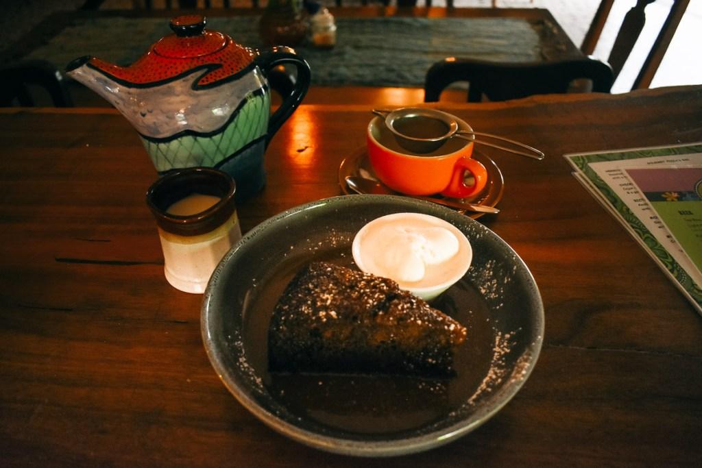 tea and cake at bingil bay cafe