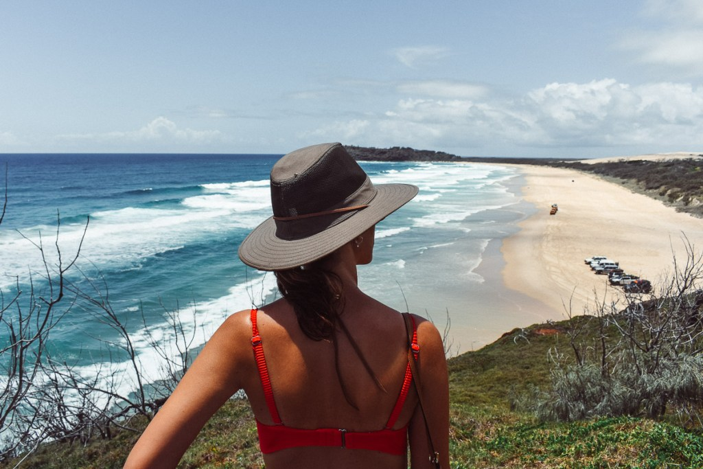 Tag-a-long tours on fraser island champagne pools