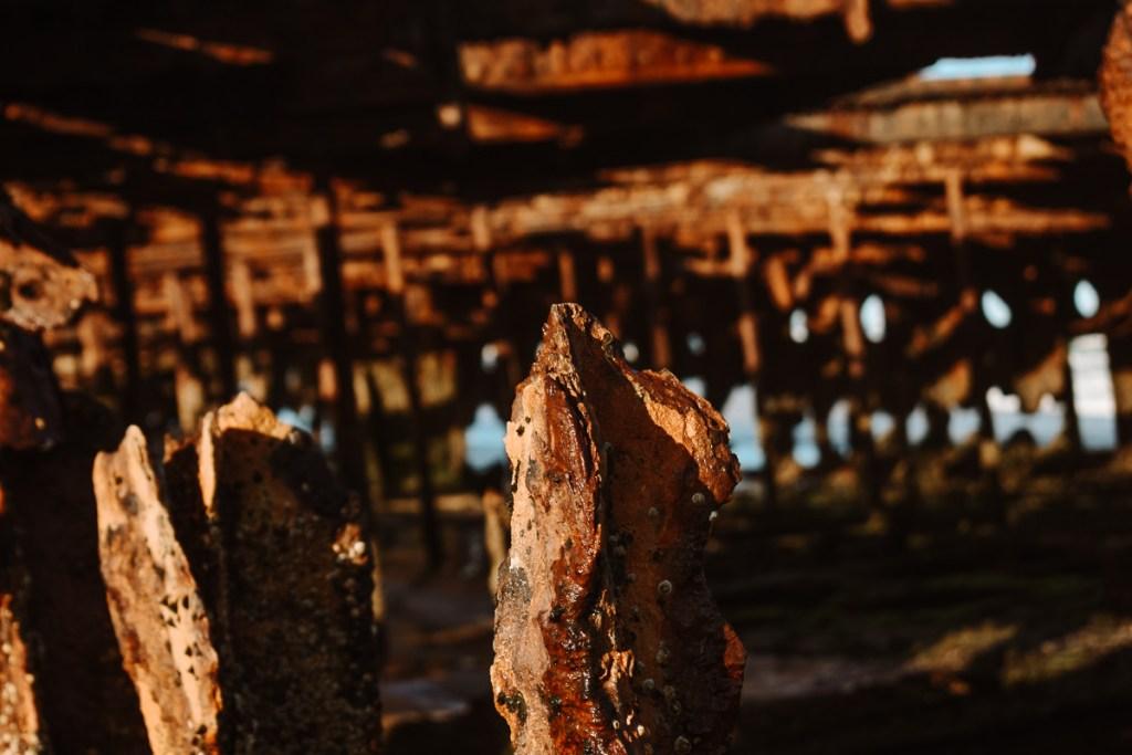 Fraser island shipwreck rust