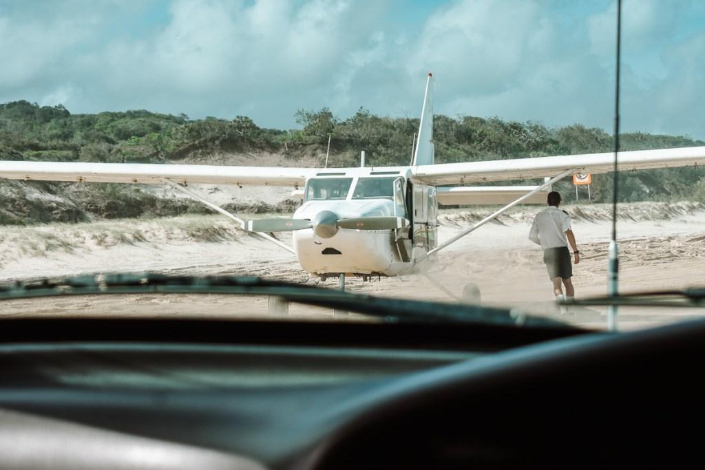 Fraser Island air plane