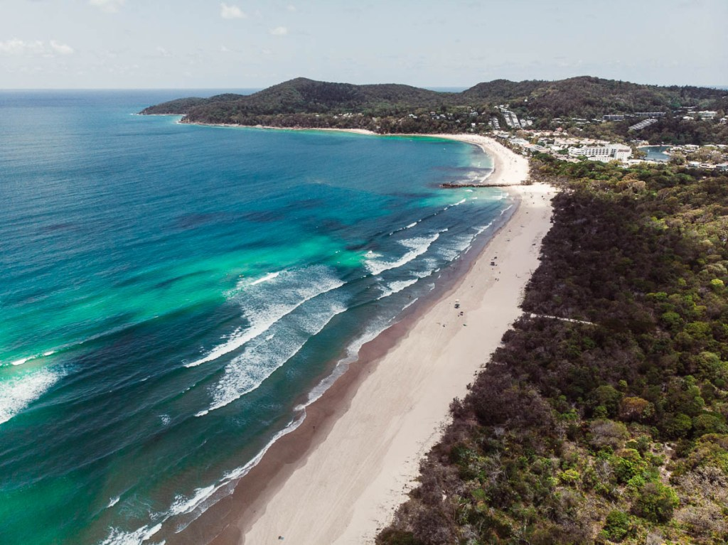 view of entire Noosa beach