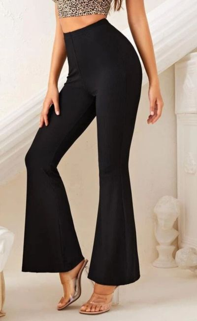 knit flared pant