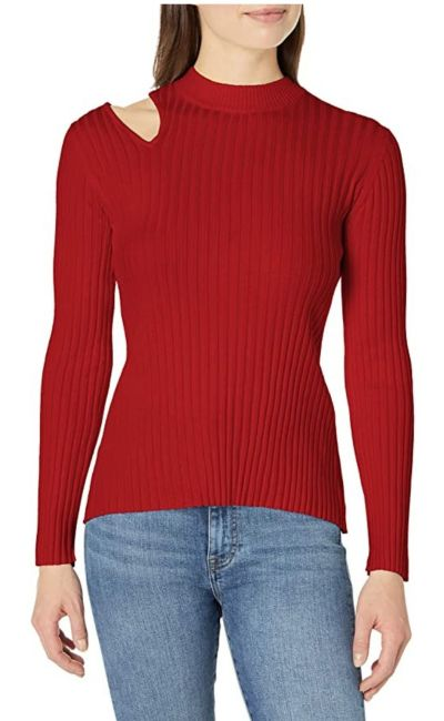 cut out pullover sweater