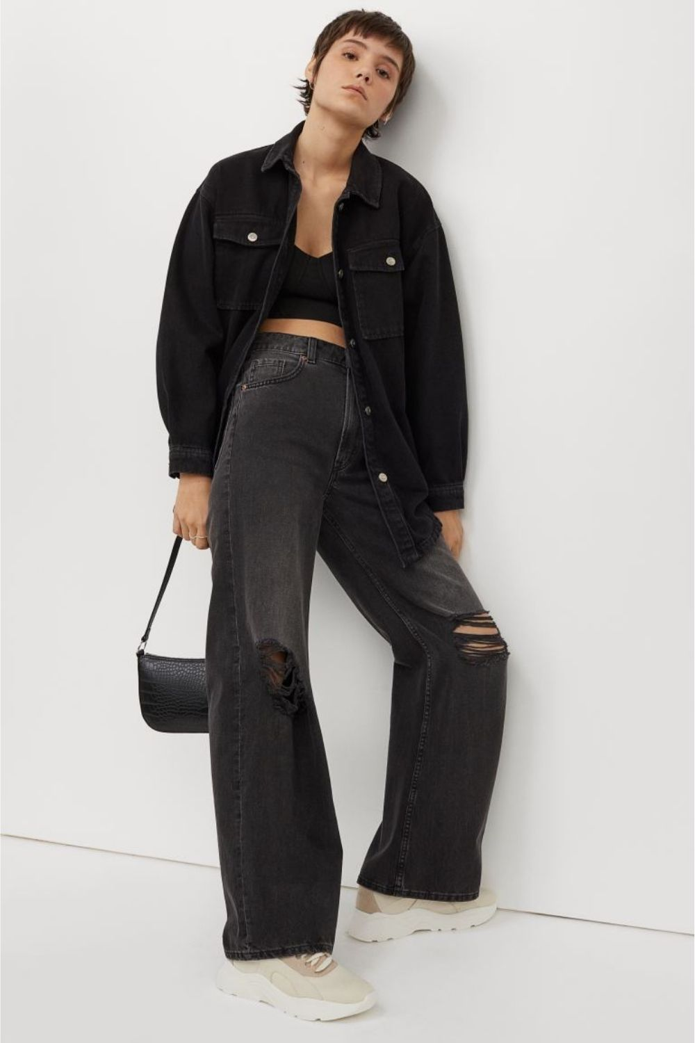 black shacket from H&M