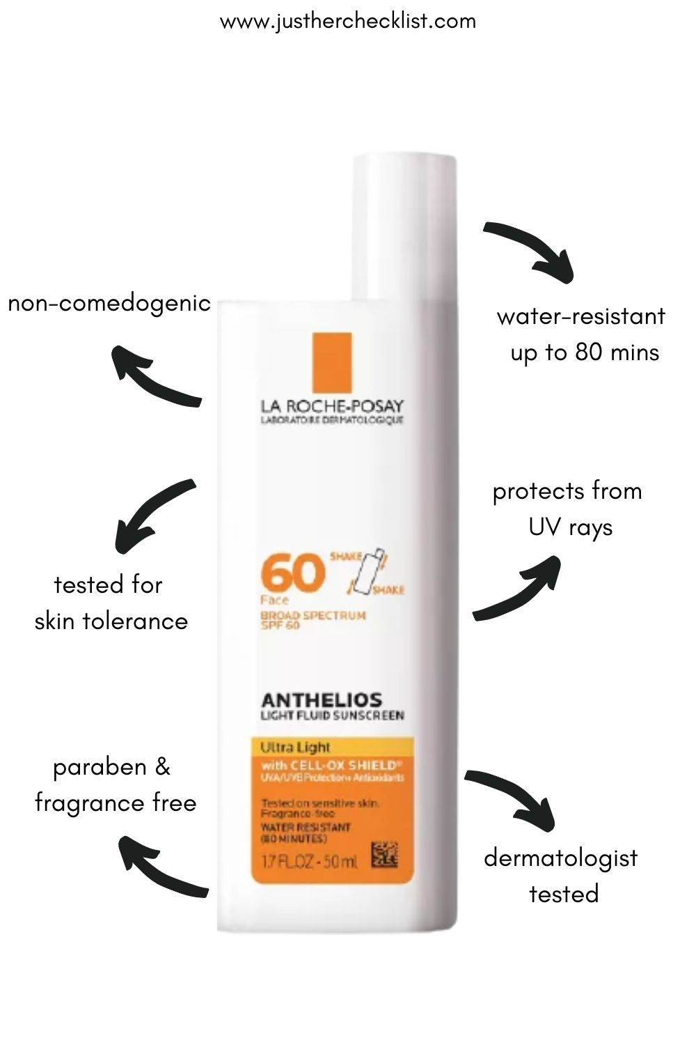 La-Roche Posay Anthelios 60 Face Sunscreen for Oily Skin SPF 60