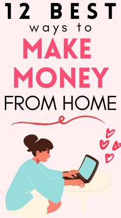 ways to make money from home blog pin