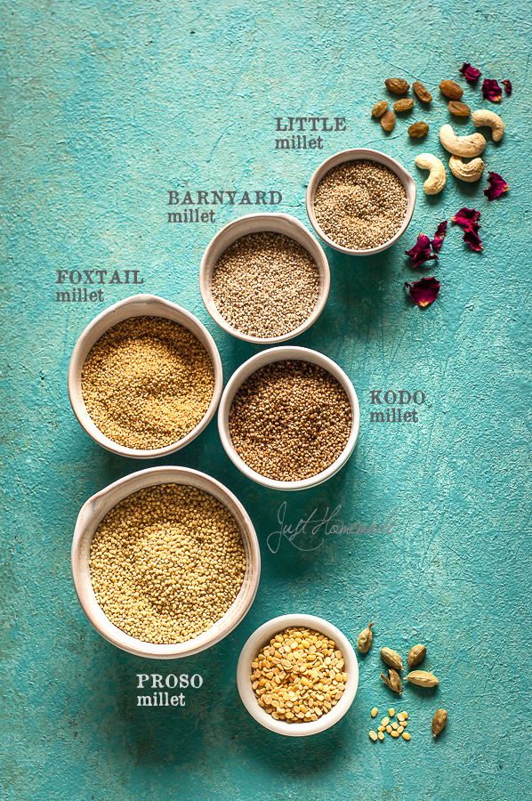 Mixed Millets for kheer with names