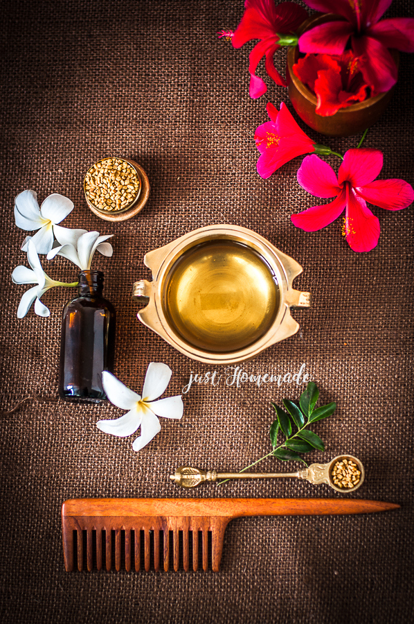 Homemade Hair oil for hairloss and dandruff control